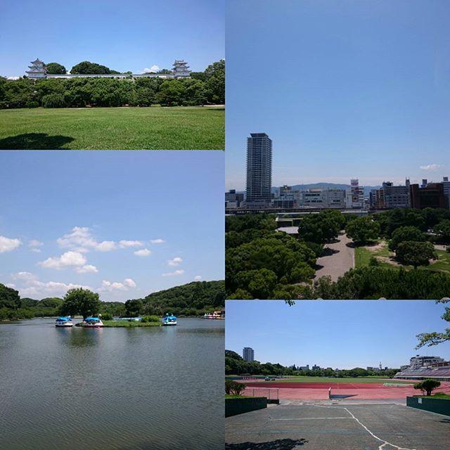 #梅雨明け の #明石公園 は全開の #夏空 でした!(;´Д`) #明石市